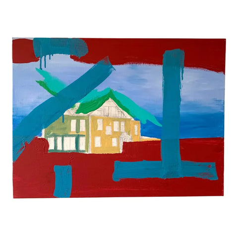 Contemporary Abstract Landscape Painting - Matthew Izzo Home
