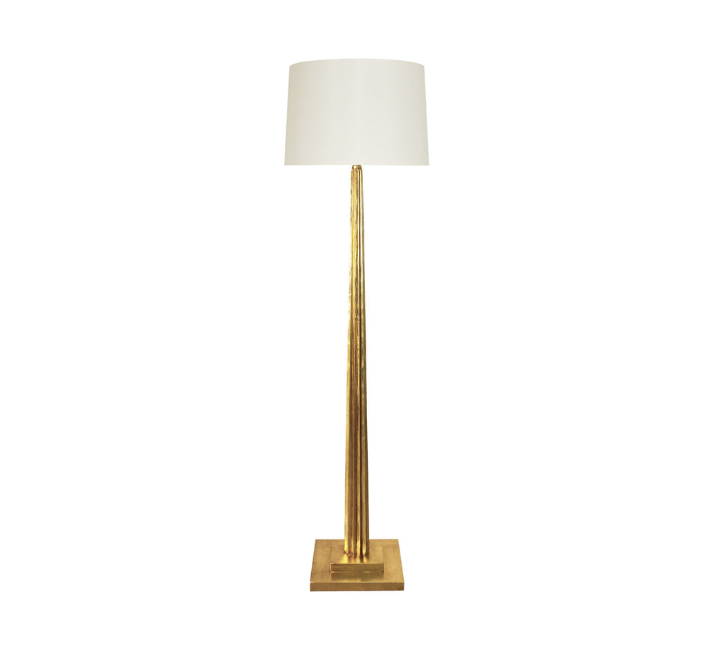 Worlds Away Capone Gold Leaf Floor Lamp - Matthew Izzo Home