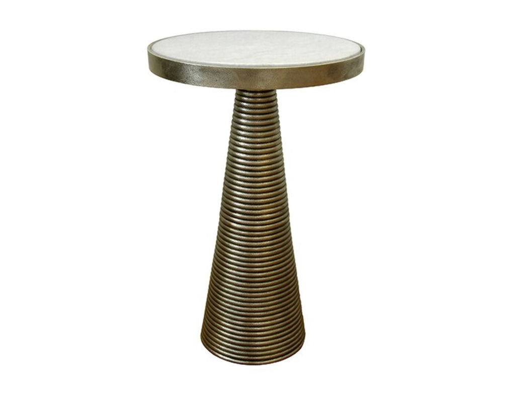 Worlds Away Tara Brass Side Table - Matthew Izzo Home