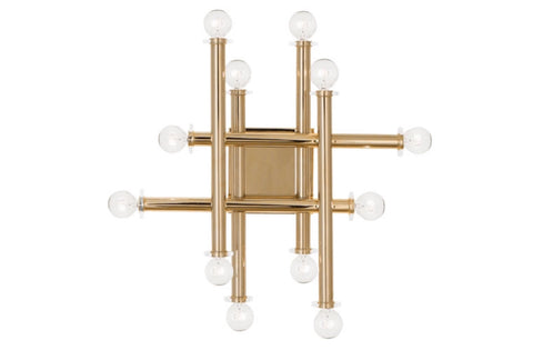 Jonathan Adler Milano Polished Brass Linear Wall Sconce - Matthew Izzo Home