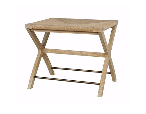 Worlds Away Conan Oak X-Base Stool