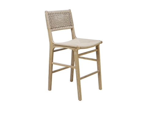 Worlds Away Astrid Rustic Oak Counter Stool