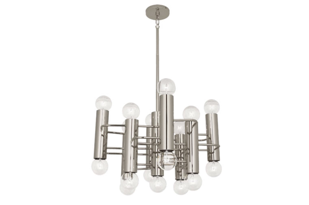 Jonathan Adler Milano Square Polished Nickel Pendant - Matthew Izzo Home