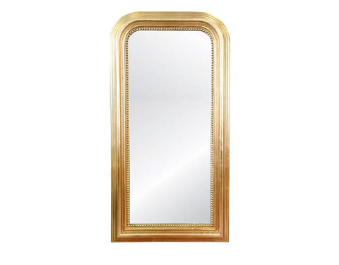 Worlds Away Waverly Gold Leaf Floor Mirror - Matthew Izzo Home