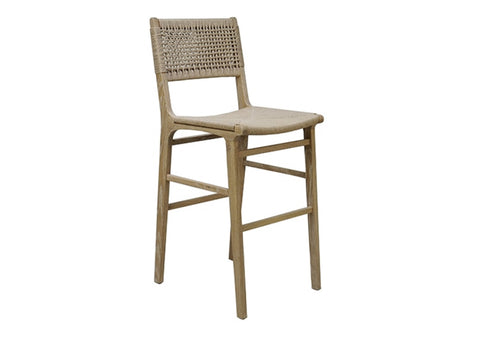 Worlds Away Carson Oak Bar Stool