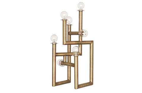 Jonathan Adler Milano Warm Brass Modernist Table Lamp - Matthew Izzo Home