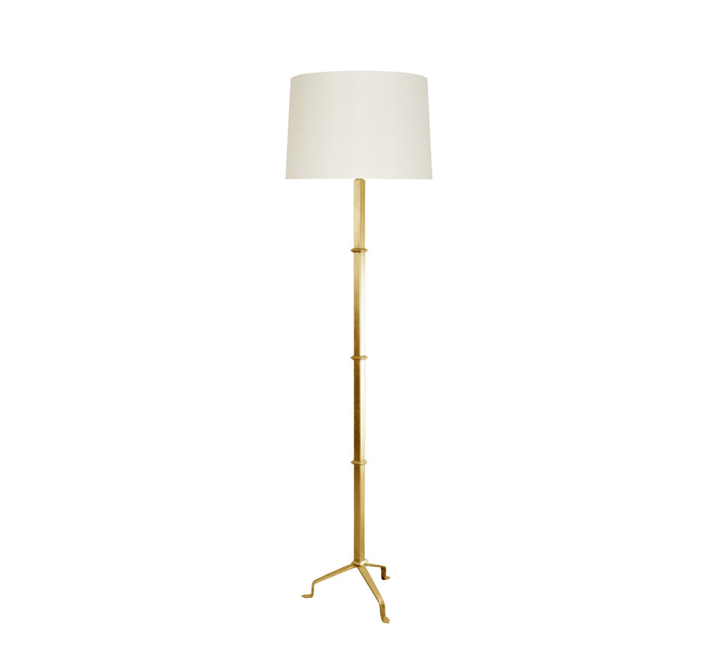 Worlds Away Alvaro Gold Leaf Floor Lamp - Matthew Izzo Home