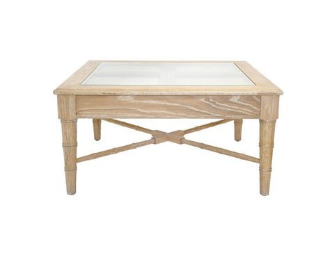 Worlds Away Noreen Square Oak Coffee Table