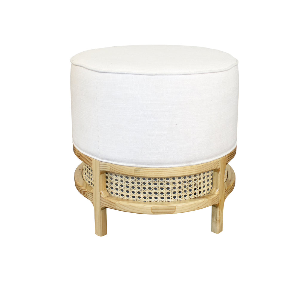 Worlds Away Lyanna Rustic Pine Stool - Matthew Izzo Home