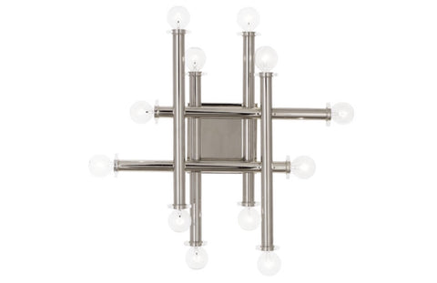 Jonathan Adler Milano Polished Nickel Linear Wall Sconce - Matthew Izzo Home