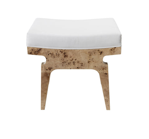 Worlds Away Fergie Burl Wood Stool