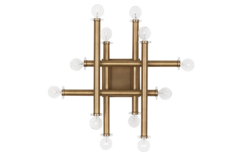 Jonathan Adler Milano Warm Brass Linear Wall Sconce - Matthew Izzo Home