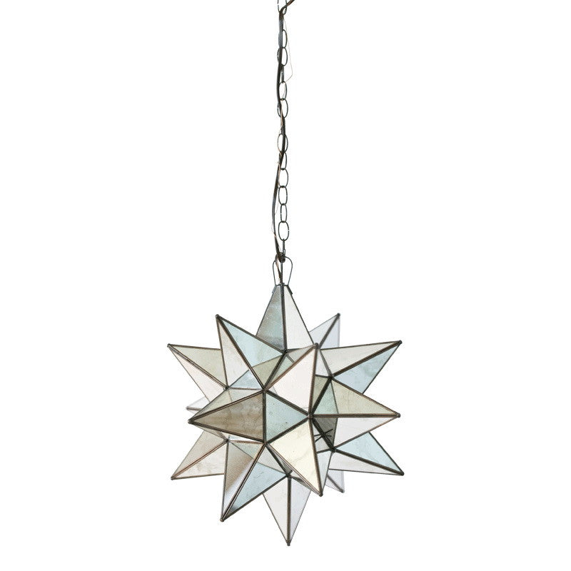Worlds Away Star Antique Mirror Chandelier - Matthew Izzo Home