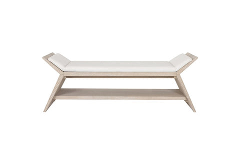 Worlds Away Peria Large Modern Oak Bench
