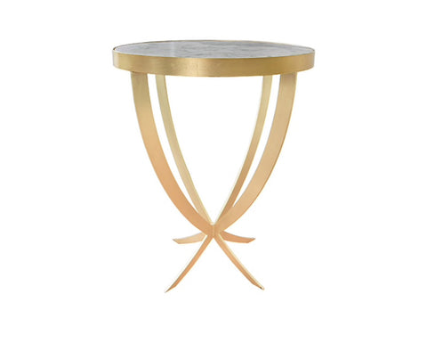 Worlds Away Nadine Gold Leaf Side Table - Matthew Izzo Home