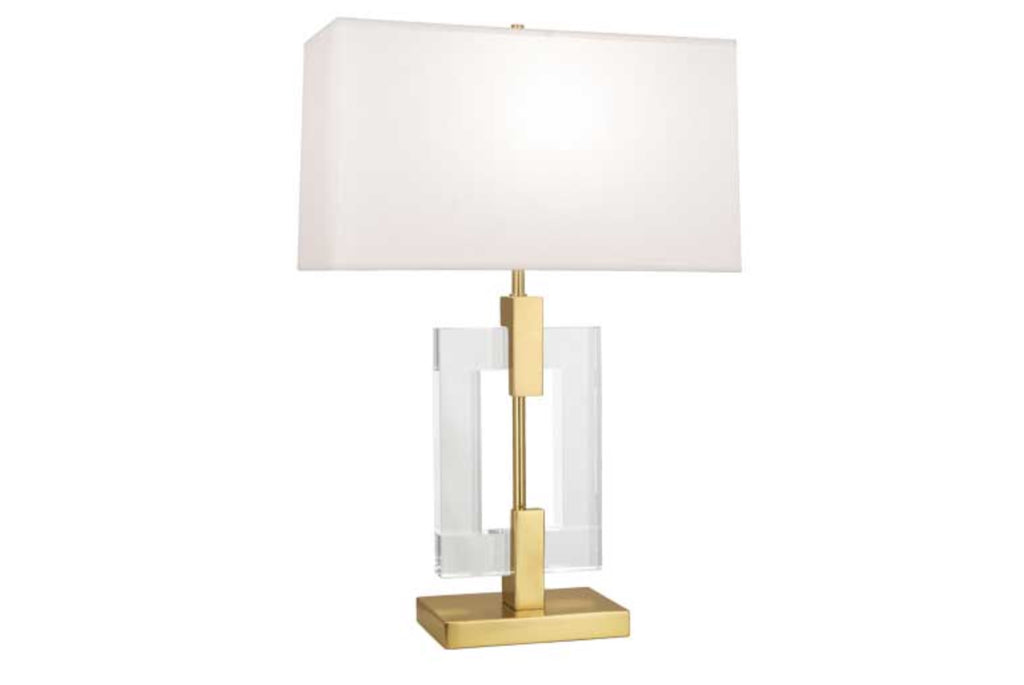 Robert Abbey Lincoln Brass Table Lamp - Matthew Izzo Home