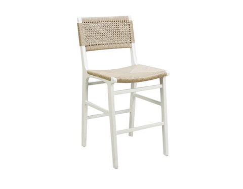 Worlds Away Astrid Rustic White Counter Stool