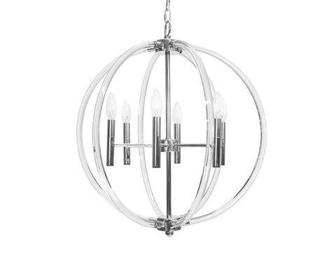 Worlds Away Devon Globe Chandelier - Matthew Izzo Home