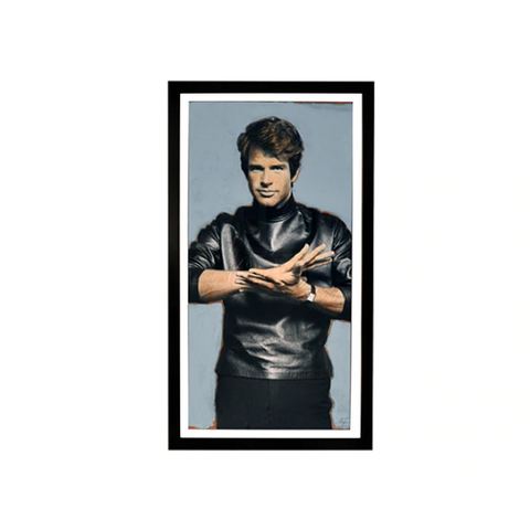 Worlds Away Warren Beatty Color Framed Print - Matthew Izzo Home