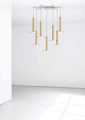 Pablo Designs Cielo XL Multilight Pendant in Brass - Matthew Izzo Home