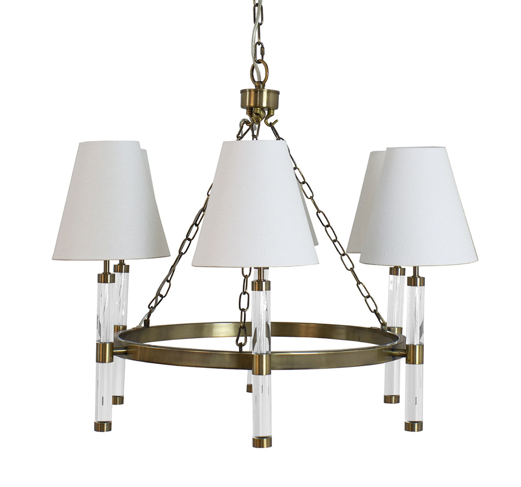Worlds Away Winifred Rustic Brass Chandelier