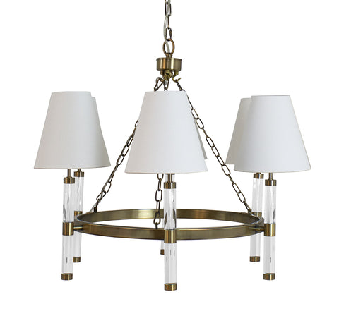 Worlds Away Winifred Rustic Brass Chandelier - Matthew Izzo Home