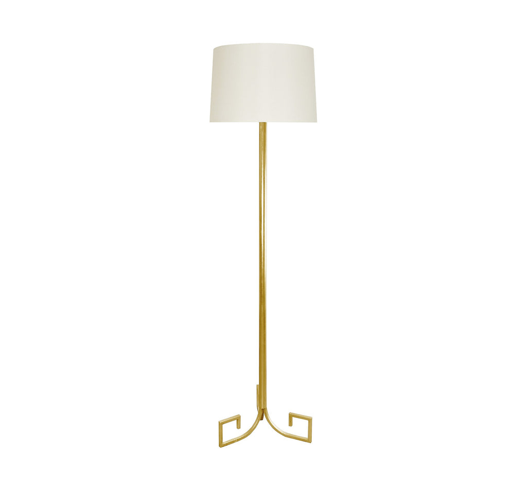 Worlds Away Merlin Gold Greek Key Floor Lamp - Matthew Izzo Home