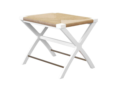 Worlds Away Conan White X-Base Stool