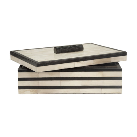 Worlds Away Concord Black Decorative Box - Matthew Izzo Home