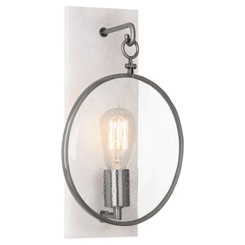Robert Abbey Fineas Antique Nickel Wall Sconce - Matthew Izzo Home