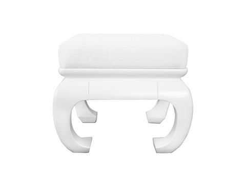 Worlds Away Claudia White Stool
