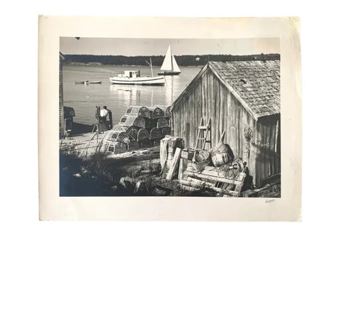 Antique Photograph of Boothbay Harbor, Maine - Matthew Izzo Home
