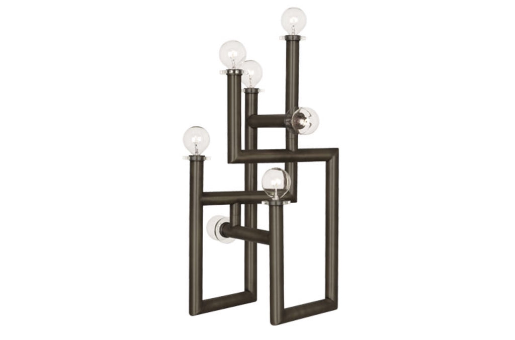 Jonathan Adler Milano Patina Bronze Modernist Table Lamp - Matthew Izzo Home