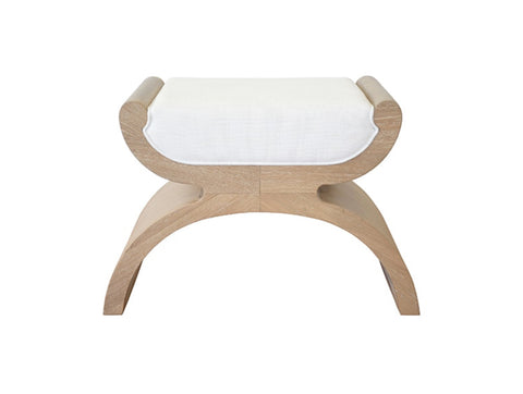 Worlds Away Janna Modern Oak Stool