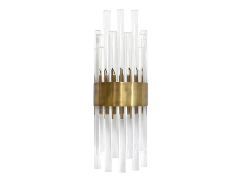 Worlds Away Natasha Brass Wall Sconce