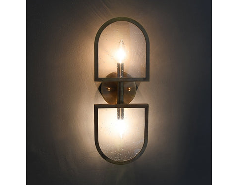 Worlds Away Dexter Antique Brass Wall Sconce