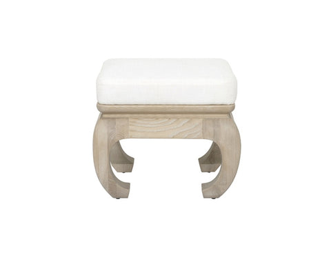 Worlds Away Claudia Oak Stool
