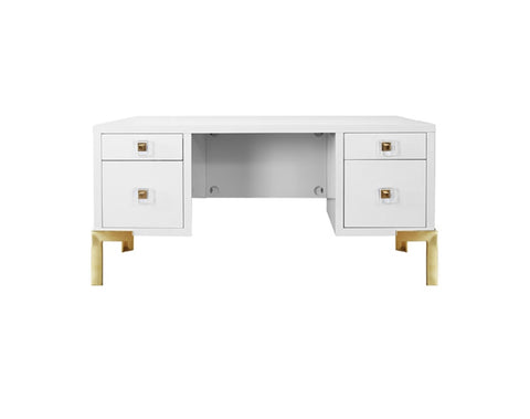 Worlds Away Cosby White Desk