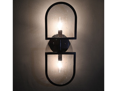 Worlds Away Dexter Black Wall Sconce