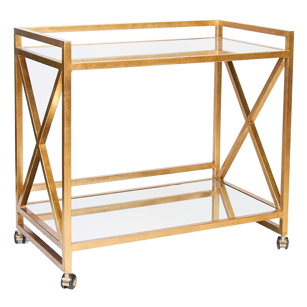 Worlds Away Gerard Bar Cart - Matthew Izzo Home