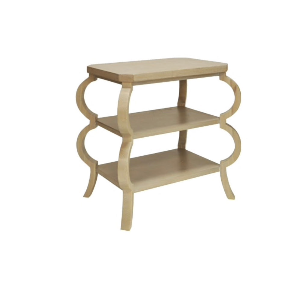 Worlds Away Olive Curvy Side Table - Matthew Izzo Home
