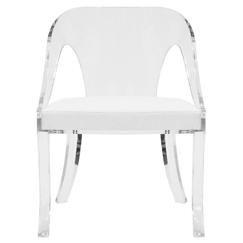 Worlds Away Jolie Acrylic Dining Chair - Matthew Izzo Home