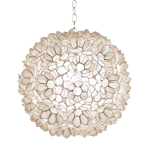 Worlds Away Jupiter Capiz Shell Floral Pendant - Matthew Izzo Home