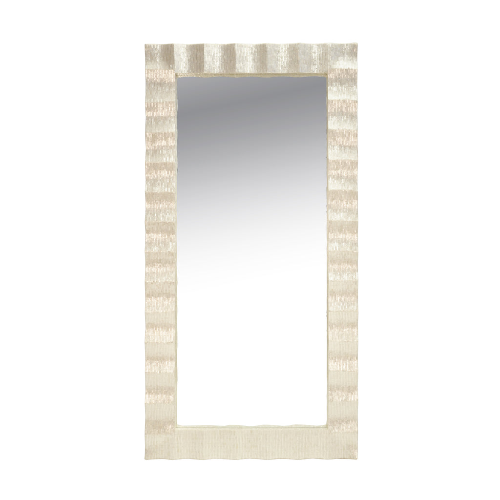 Worlds Away Full Length Rippled Milo Mirror - Matthew Izzo Home
