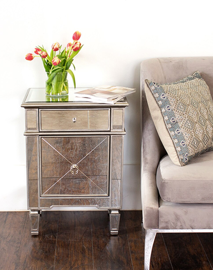 Worlds Away Claudette Side Table - Matthew Izzo Home