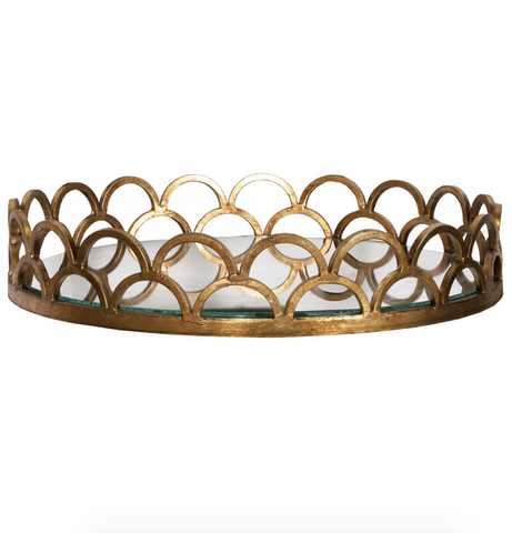 Worlds Away Evelyn Metallic Serving Tray - Matthew Izzo Home