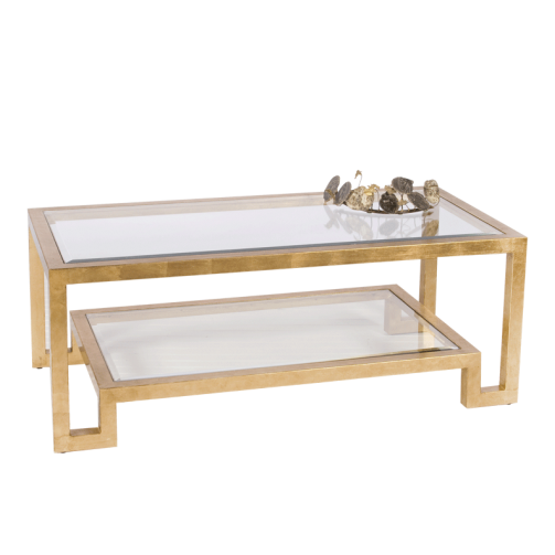 Worlds Away Winston 2 Tier Coffee Table - Matthew Izzo Home
