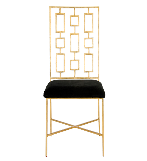 Worlds Away David Gold Leaf Dining Chairs - Matthew Izzo Home