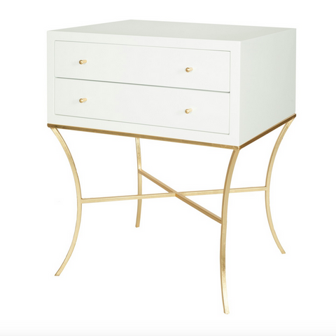 Worlds Away Elena Side Table - Matthew Izzo Home