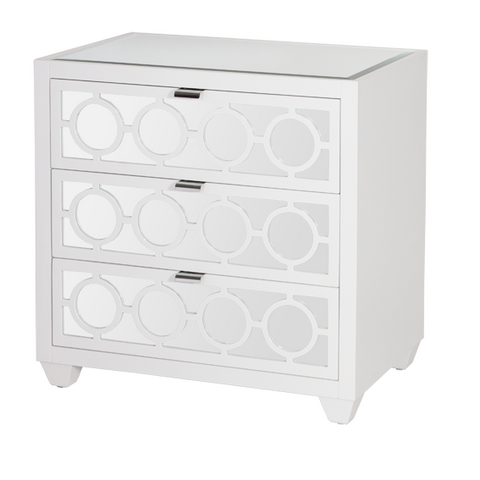 Worlds Away Ava Nightstand - Matthew Izzo Home